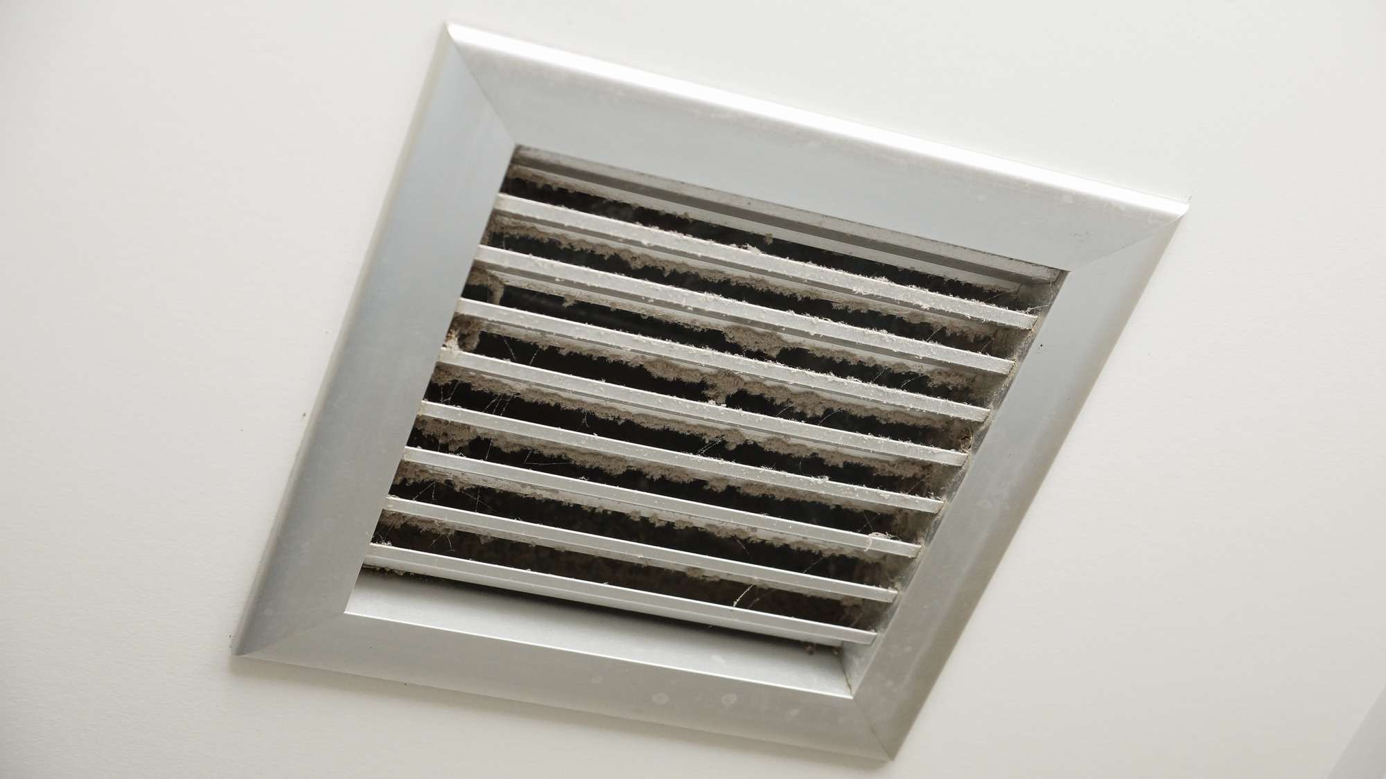 Dirty air ventilator on the ceiling