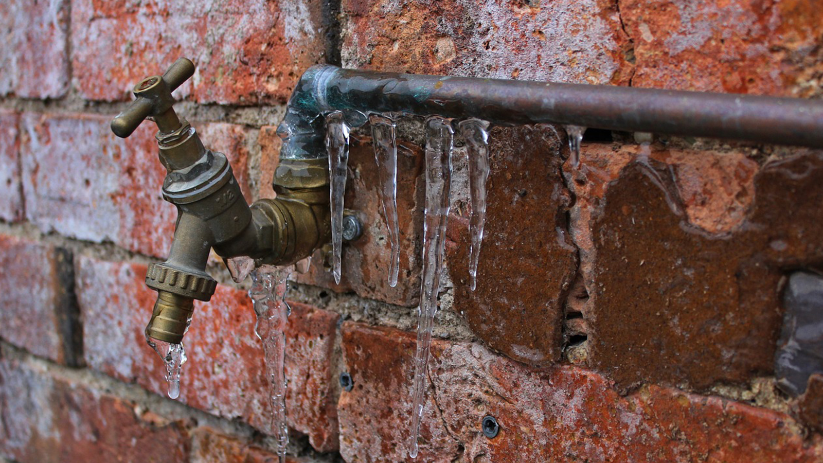 Frozen pipes during winter